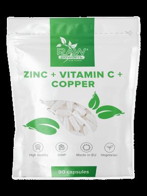 Zinc + Vitamina C + Cobre 90 cápsulas